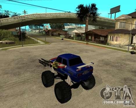 MONSTRO DE ZAZ para GTA San Andreas esquerda vista