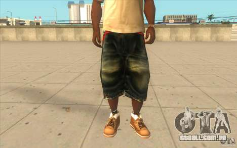 The BIG Makaveli Short Jeans para GTA San Andreas
