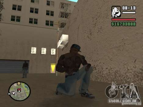 Blue Nike Air Force para GTA San Andreas por diante tela