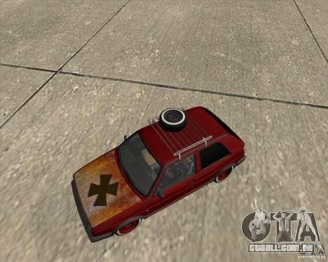 VW Golf II Shadow Crew para vista lateral GTA San Andreas