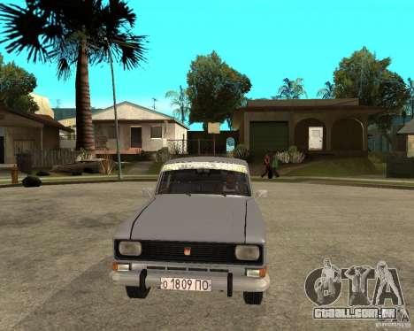 AZLK Moskvich 2140- para GTA San Andreas vista traseira