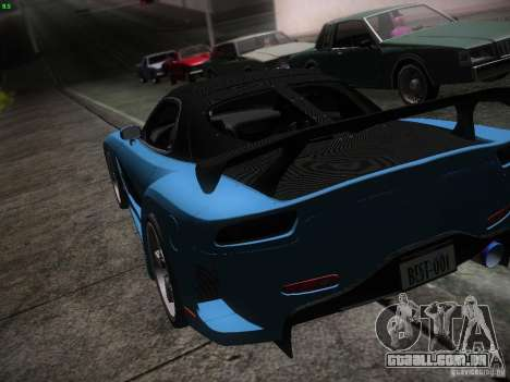 Mazda RX 7 Veil Side para GTA San Andreas vista inferior