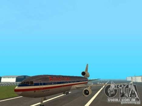 McDonell Douglas MD11 American Airlines para GTA San Andreas