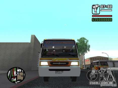 Ciferal Agilis M.Benz LO-814 BY GTABUSCL para GTA San Andreas vista interior