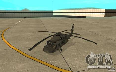 UH-60 Black Hawk para GTA San Andreas esquerda vista