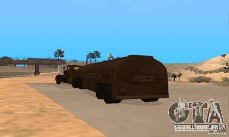 Reboque duelo Peterbilt para GTA San Andreas vista direita