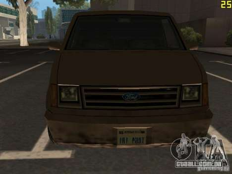 Moonbeam Pickup para GTA San Andreas vista interior