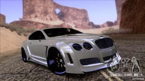 Bentley Continental GT Premier 2008 V2.0 para GTA San Andreas