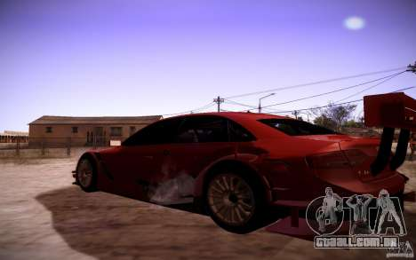 Audi A4 DTM para GTA San Andreas traseira esquerda vista