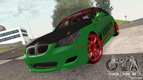 BMW M5 E60 Darius Balys para GTA San Andreas esquerda vista