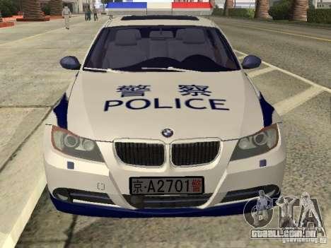 BMW 3 Series China Police para GTA San Andreas vista direita