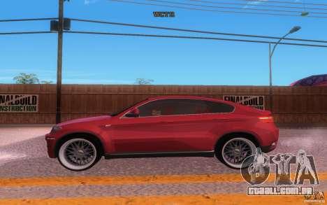 BMW X6 Tuning para GTA San Andreas vista interior