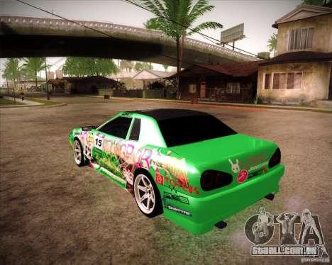 Elegy Toy Sport v2.0 Shikov Version para GTA San Andreas esquerda vista