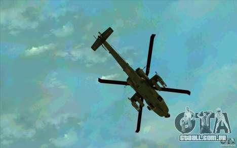 Apache AH64D Longbow para GTA San Andreas vista inferior