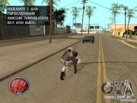 Adição para o GTA IV HUD para GTA San Andreas por diante tela