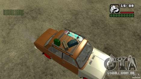 Lada 2101 OnlyDropped para GTA San Andreas traseira esquerda vista