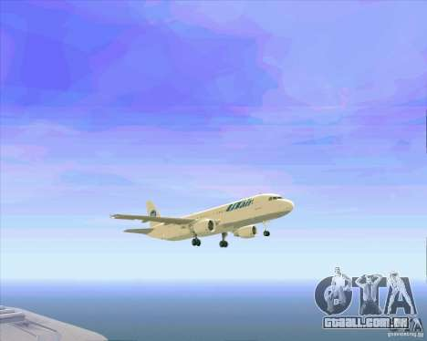 Avião Airbus A-320 UTair para GTA San Andreas