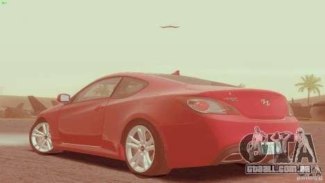 Hyundai Genesis Tunable para GTA San Andreas esquerda vista