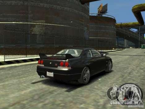 Nissan Skyline GT-R V-Spec (R33) 1997 para GTA 4 traseira esquerda vista
