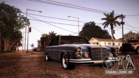 Mercedes Benz 300 SEL - Custom RC3D Edit para GTA San Andreas vista interior