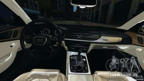 Audi A6 para GTA 4 vista de volta