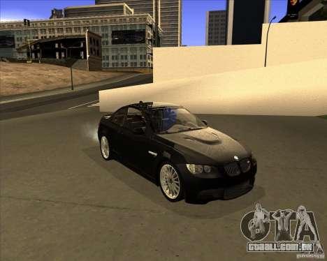BMW M3 Convertible 2008 para GTA San Andreas esquerda vista