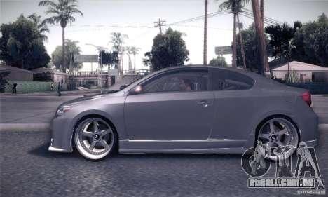 Scion Tc Street Tuning para GTA San Andreas esquerda vista