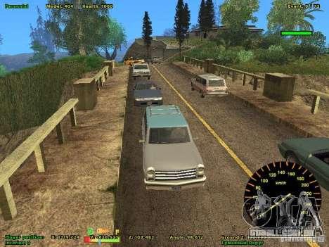 DMX para GTA San Andreas por diante tela