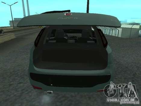 Fiat Punto EVO SPORT 2010 para GTA San Andreas vista traseira
