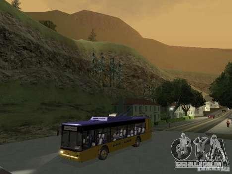 Trólebus LAZ e-183 para GTA San Andreas