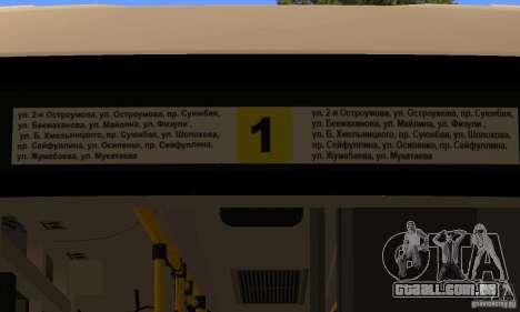 Daewoo Bus BC211MA Almaty para GTA San Andreas vista traseira