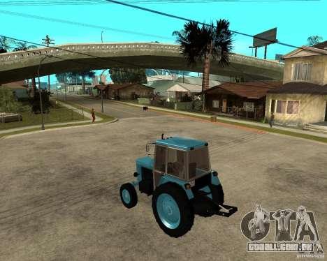 Tractor Belarus 80,1 e reboque para GTA San Andreas