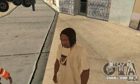 Longos cabelos escuros para GTA San Andreas
