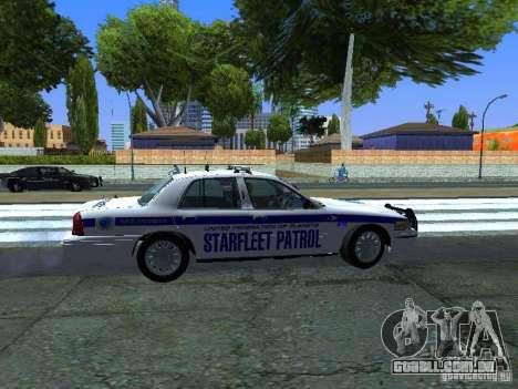 Ford Crown Victoria Police Interceptor 2008 para GTA San Andreas vista traseira