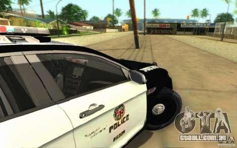 Ford Taurus 2011 LAPD Police para GTA San Andreas vista traseira