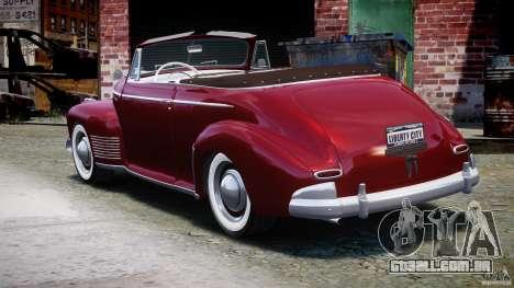 Chevrolet Special DeLuxe 1941 para GTA 4 traseira esquerda vista