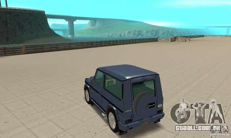 Mercedes-Benz G500 1999 Short [with kangoo v3] para GTA San Andreas traseira esquerda vista