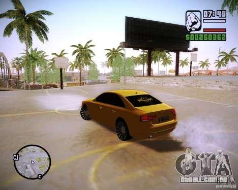 Audi A8 para GTA San Andreas esquerda vista