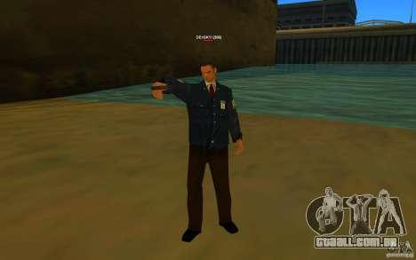 HQ skin FBI para GTA San Andreas segunda tela