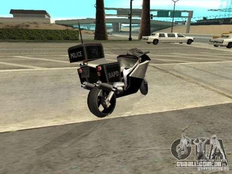 NRG-500 Police para GTA San Andreas esquerda vista