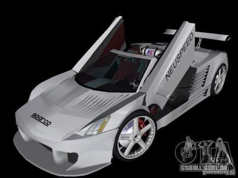 Cadillac Cien Shark Dream TUNING para GTA Vice City vista traseira