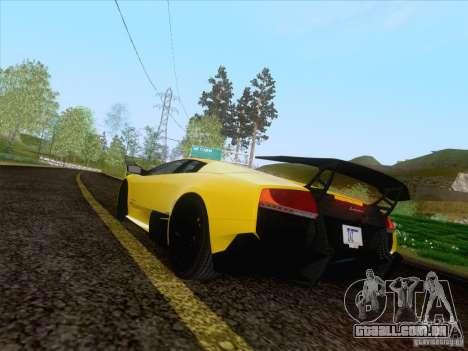 Lamborghini Murcielago LP670–4 SuperVeloce para GTA San Andreas esquerda vista