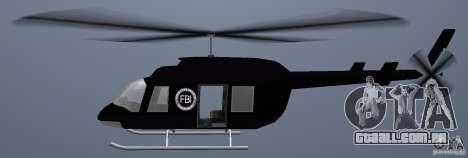 FBI Maverick para GTA Vice City vista traseira esquerda