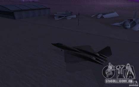 YF-23 para GTA San Andreas esquerda vista