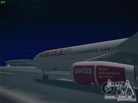 Airbus A340-300 Swiss International Airlines para GTA San Andreas vista traseira