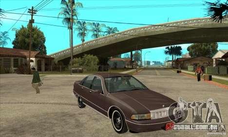 Chevrolet Caprice 1991 para vista lateral GTA San Andreas
