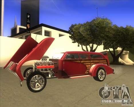 Custom Woody Hot Rod para GTA San Andreas vista direita