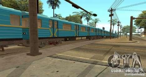 Metro tipo OURIÇO para GTA San Andreas vista traseira