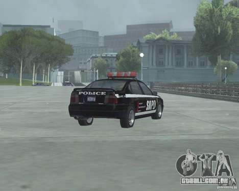 Cop Car Chevrolet para GTA San Andreas traseira esquerda vista