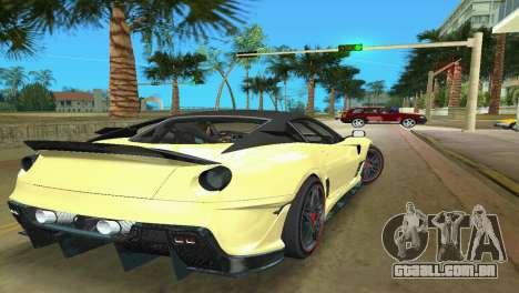 Ferrari 599XX para GTA Vice City vista direita